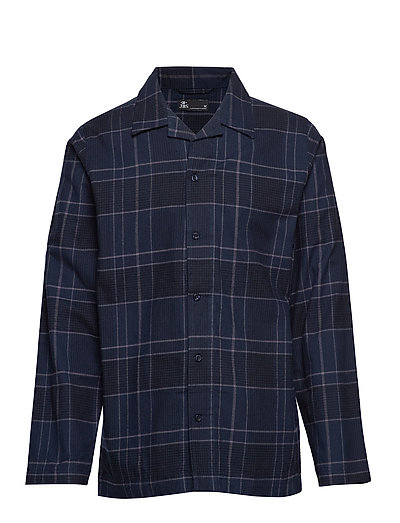 JBS pajamas button down, flla. - NAVY CHECK