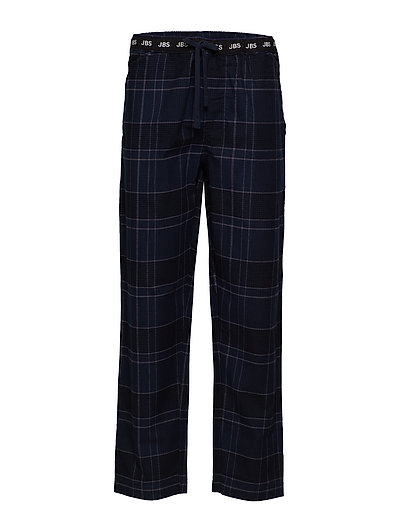 JBS pajamas pants, flannel - NAVY CHECK