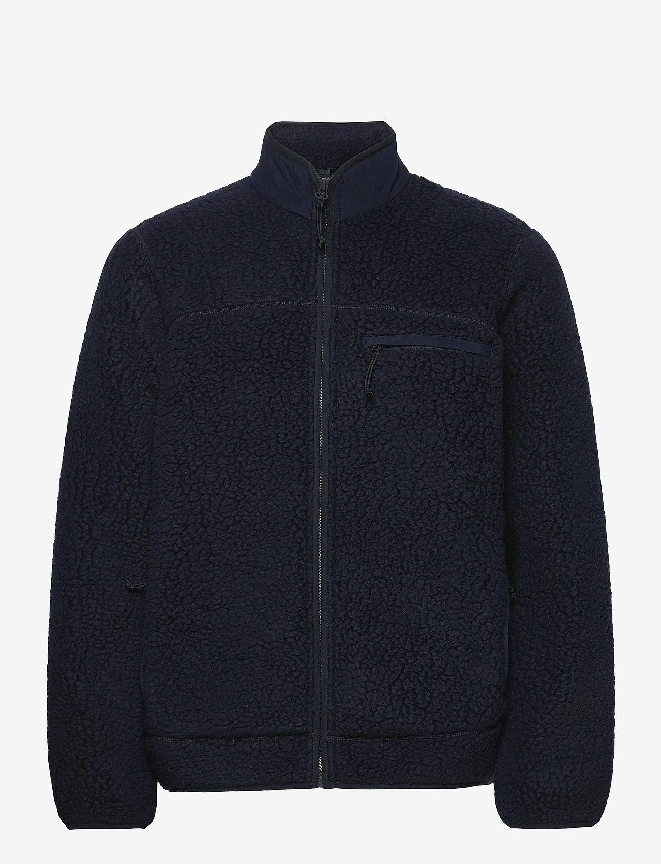 J.Crew - Polar Sherpa Fz Jkt - basic-sweatshirts - blue - 0