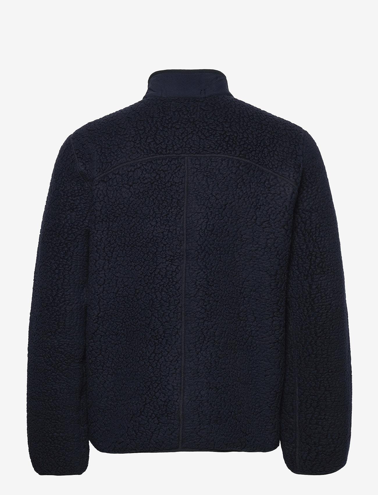 J.Crew - Polar Sherpa Fz Jkt - basic-sweatshirts - blue - 1