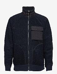J.Crew - Nordic Sherpa Fz Jkt - basic-sweatshirts - blue - 0