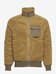 J.Crew - Nordic Sherpa Fz Jkt - basic-sweatshirts - brown - 0