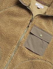J.Crew - Nordic Sherpa Fz Jkt - basic-sweatshirts - brown - 2