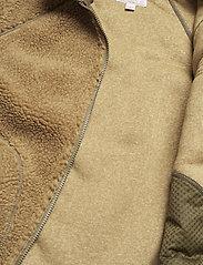 J.Crew - Nordic Sherpa Fz Jkt - basic-sweatshirts - brown - 4