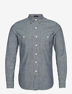 Slim Chambray Shirt - basic skjortor - blue