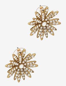 All Pave Daisy Stud Earrings - stud oorbellen - gold