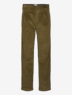 W&Amp;B Double Pleated Corduroy Pant. - chinos - green