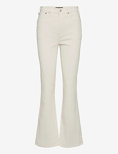 Cord Skinny Flare - schlaghosen - white