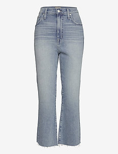 Point Sur Kickout Crop In Faded Blue - boot cut jeans - denim