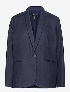 Parke Blazer In Stretch Linen - casual blazers - blue