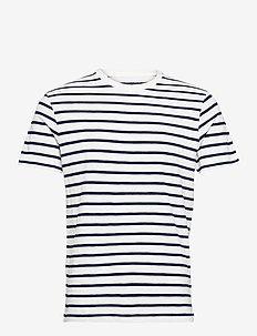 Jersey Deck Stripe - kurzärmelig - white striped