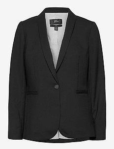 Parke Blazer In Wool Flannel - getailleerde blazers - black