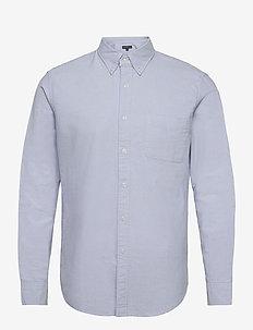 Flex Oxford-Solid - basic-hemden - blue