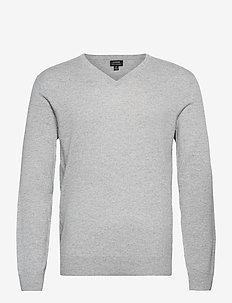 Solid Everyday Cash V - basic-strickmode - grey
