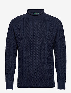 2/10'S Cotton Cable Rollneck - basic-strickmode - blue