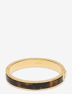 Hinge Bracelet In Tort - bangles - multi
