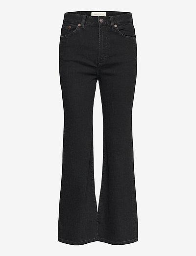 PW008 - utsvängda jeans - black 2 weeks
