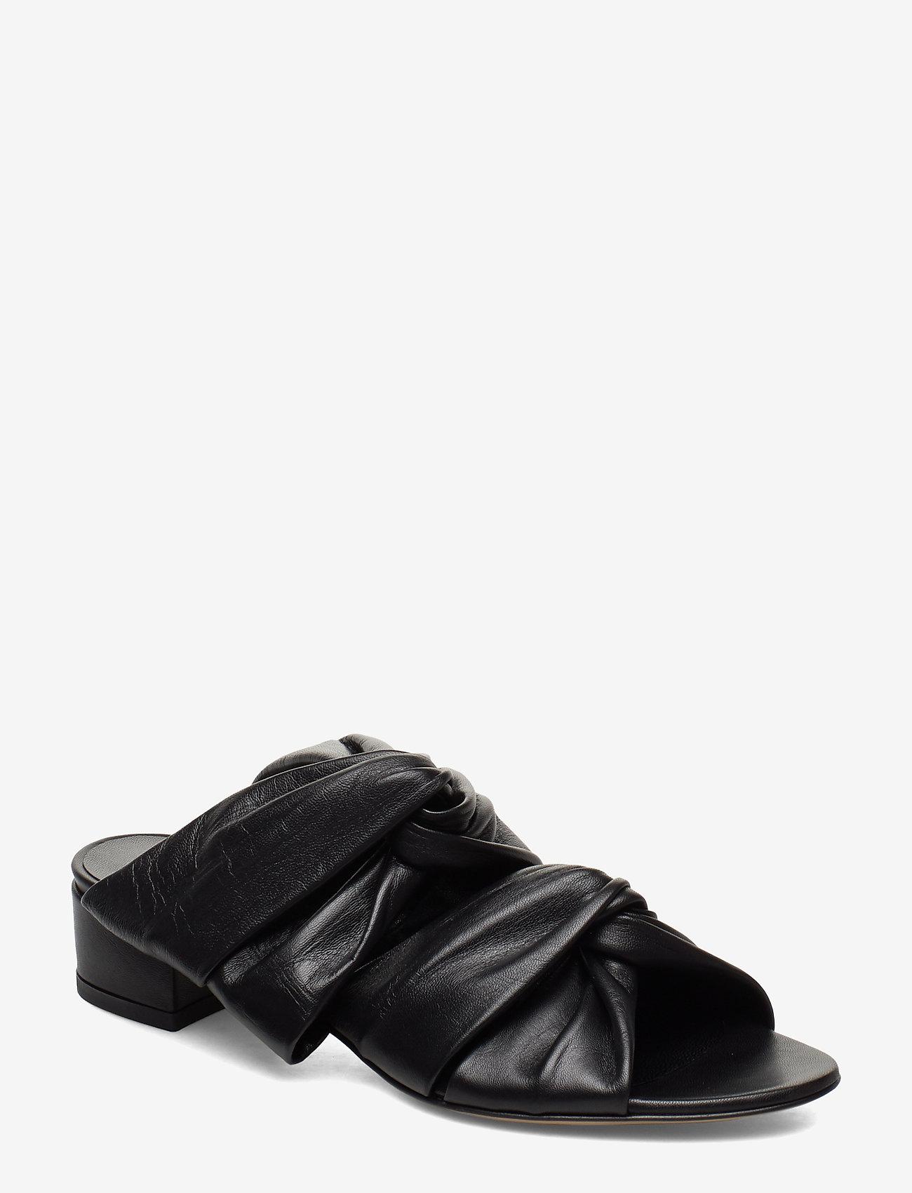 Jennie-Ellen - Mae - mules & slipins - black leather - 0
