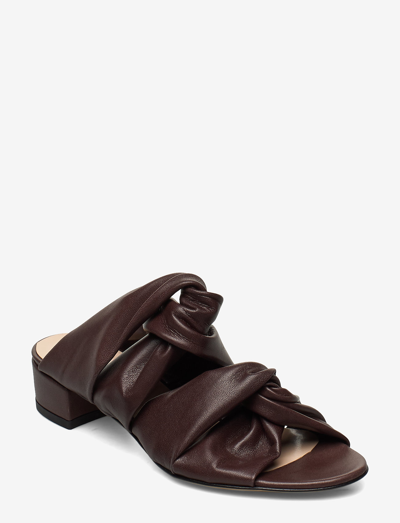Jennie-Ellen - Mae - mules & slipins - brown leather - 0