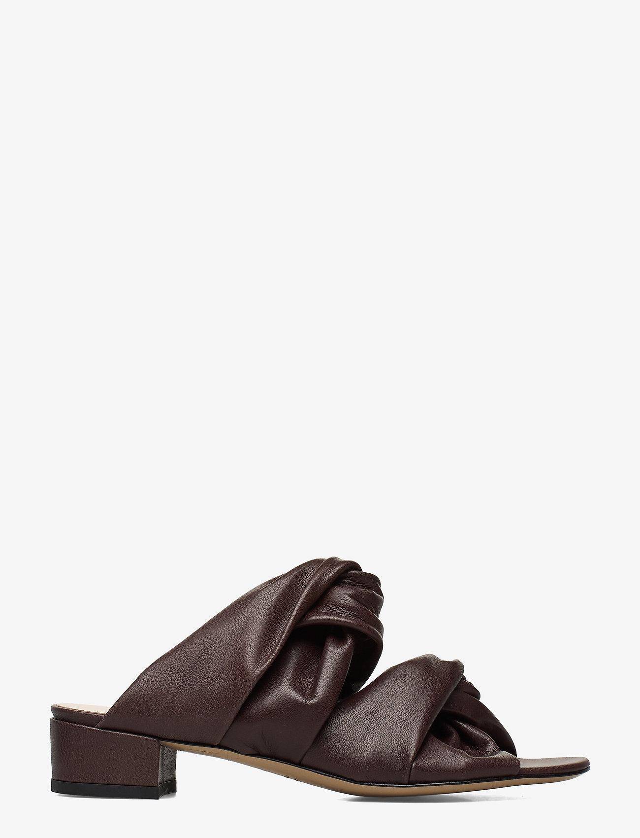 Jennie-Ellen - Mae - mules & slipins - brown leather - 1