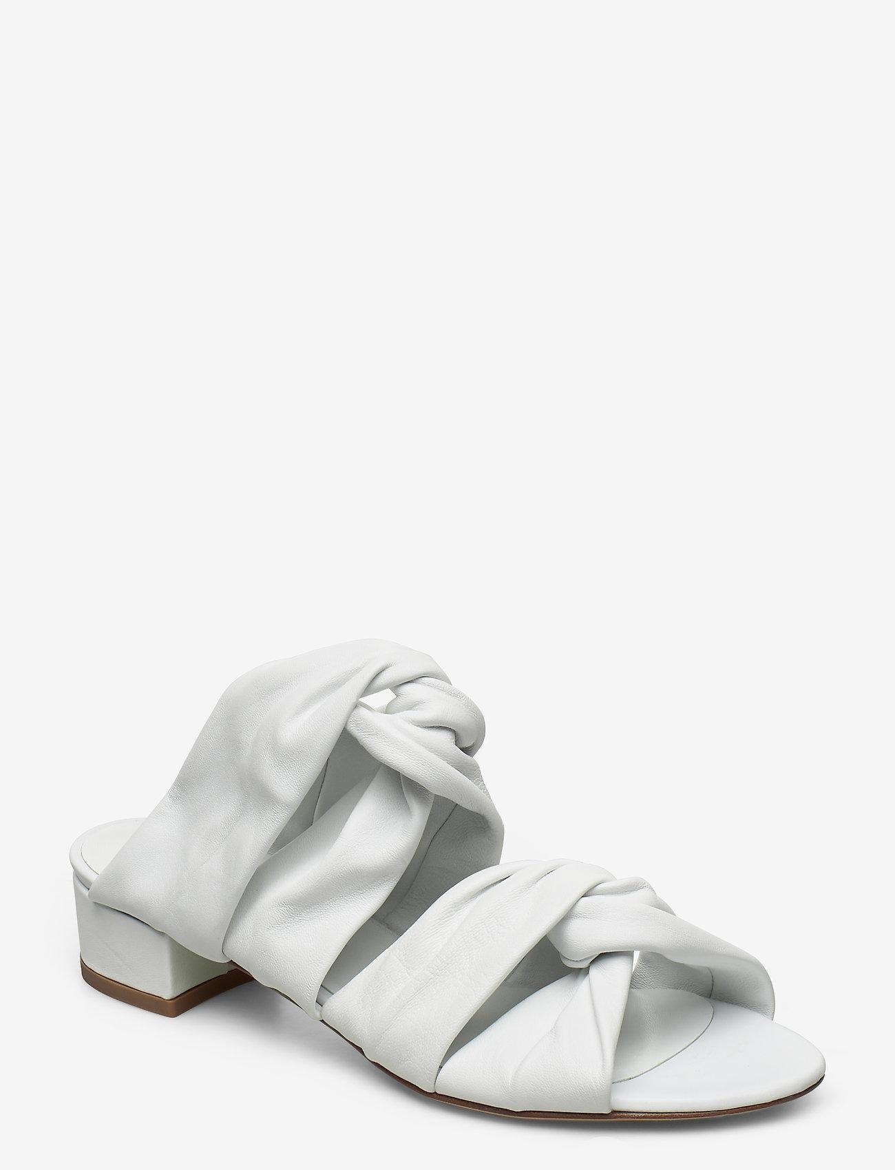 Jennie-Ellen - Mae - mules & slipins - white leather - 1