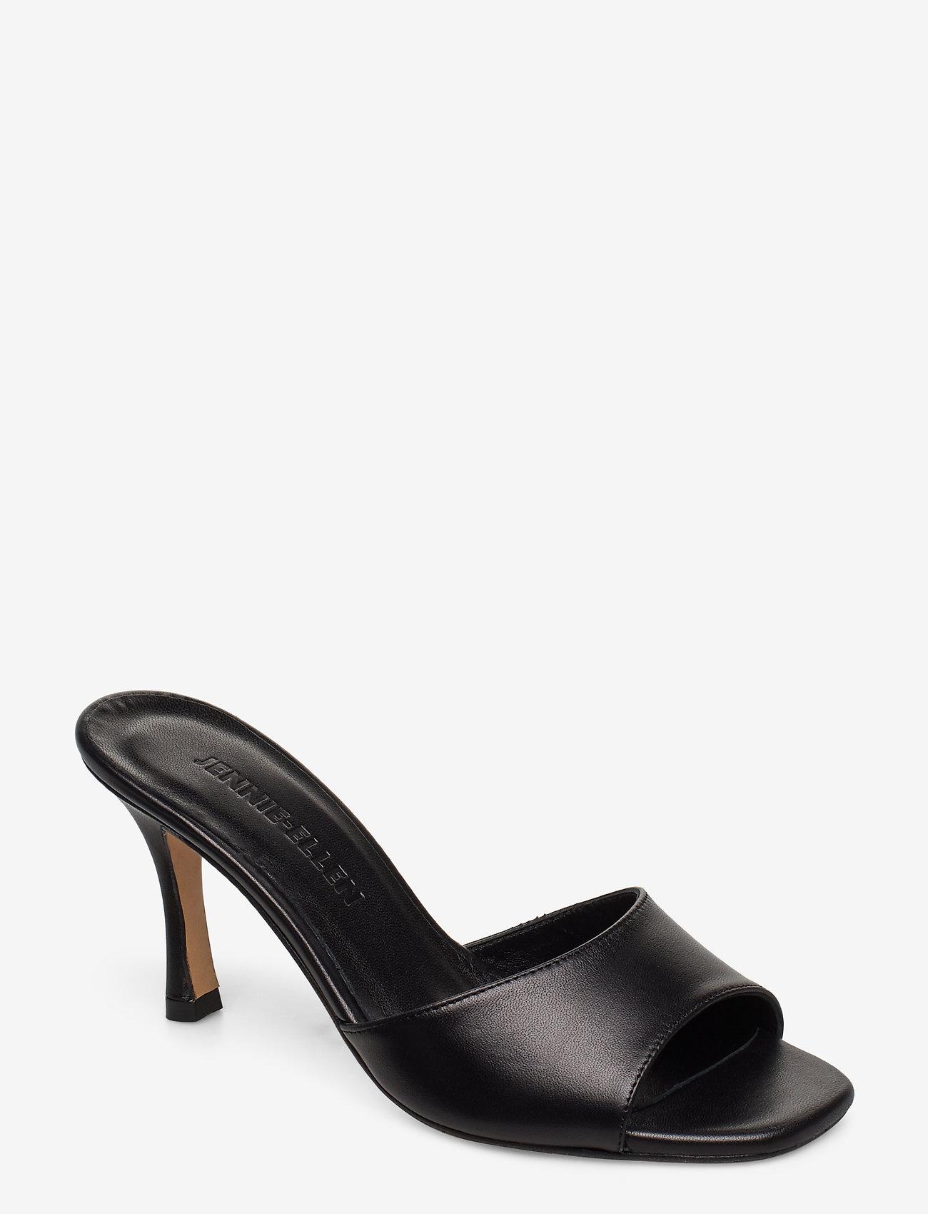 Jennie-Ellen - Check - mules & slipins - black leather - 0