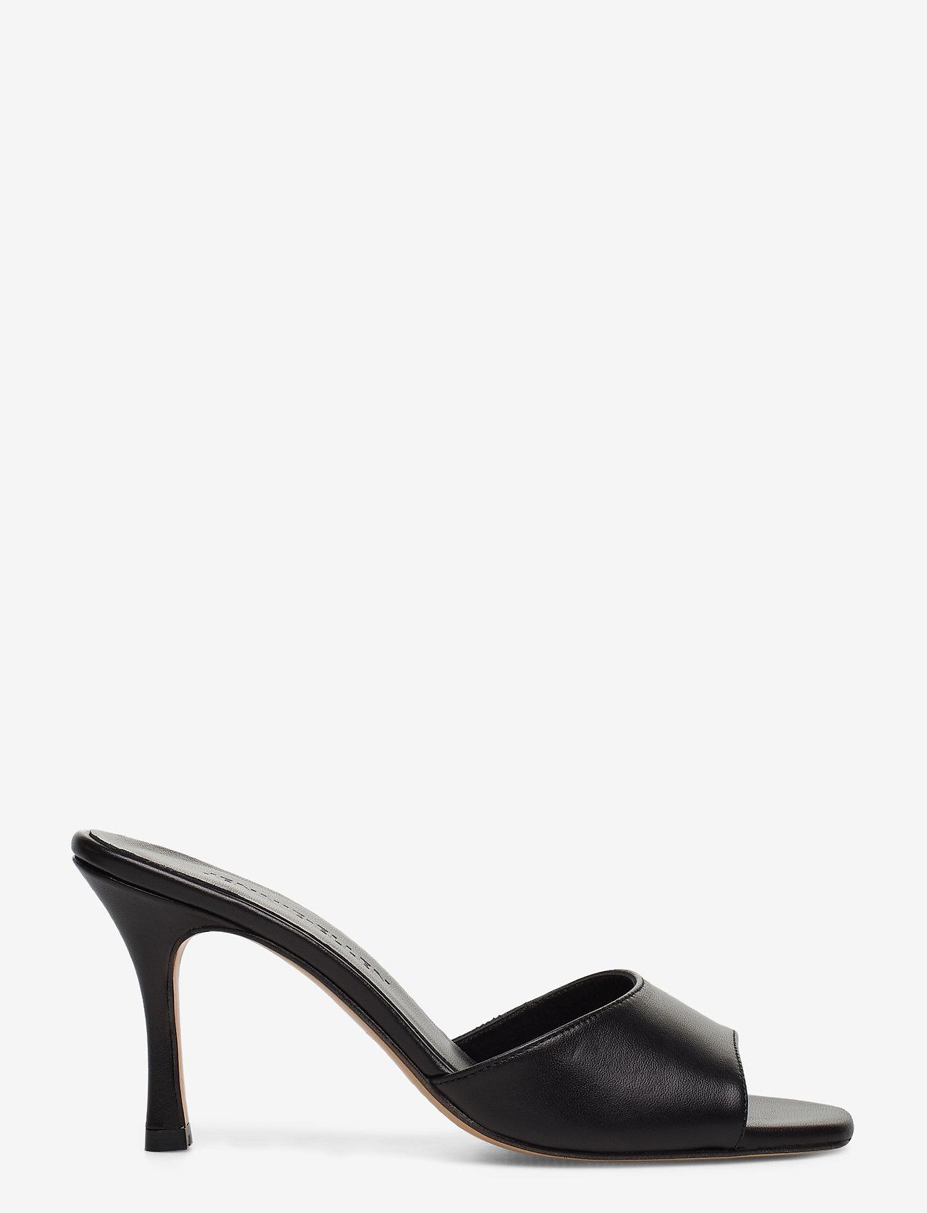 Jennie-Ellen - Check - mules & slipins - black leather - 1