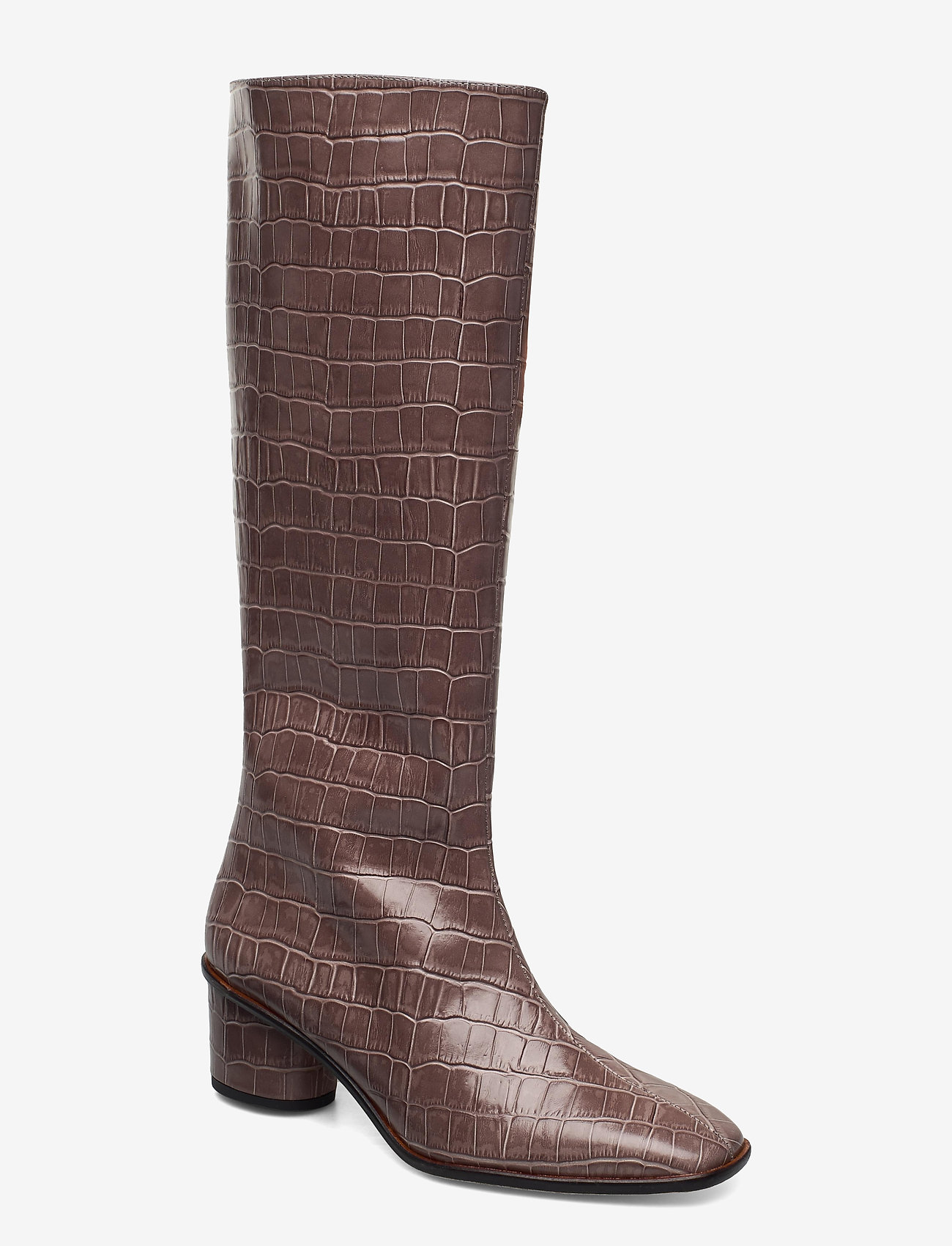 Jennie-Ellen - Maya - lange laarzen - grey croc - 0