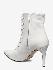 Jennie-Ellen - Pearl - enkellaarsjes met hak - white leather - 2