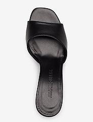 Jennie-Ellen - Check - mules & slipins - black leather - 3
