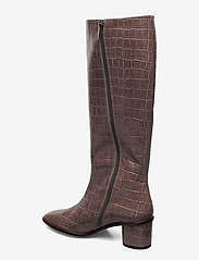 Jennie-Ellen - Maya - lange laarzen - grey croc - 2