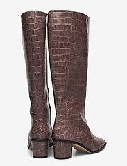 Jennie-Ellen - Maya - lange laarzen - grey croc - 4