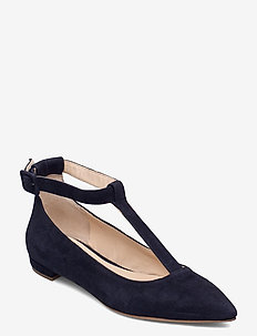 Kale - ballerinas - blue suede leather