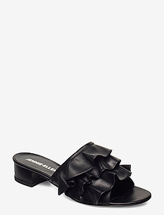 Maxi - mules - black leather