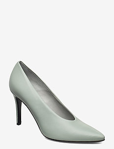 Pinch Me - classic pumps - dusty green leather
