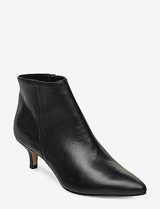 Bobby - ankelstøvler med hæl - black leather