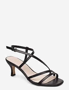 Sybil - sandalen met hak - black leather