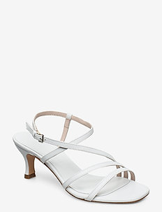 Sybil - højhælede sandaler - white leather