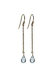 Rain Drop Earrings - BLUE TOPAZ