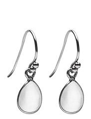 Pure drop Earrings - WHITE MONESTONE