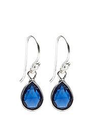 Earrings PURE DROP - BLUE CORUNDUM