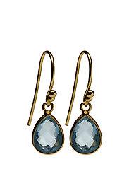 Pure drop Earrings - BLUE TOPAZ