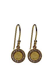 Halo Medalion Earrings - WHITE QUARTZ