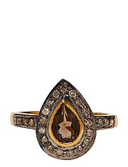 Mini Superiour Diamond Ring - SMOKY QUARTZ