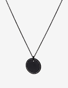 Halo Medalion Necklace - WHITE QUARTZ