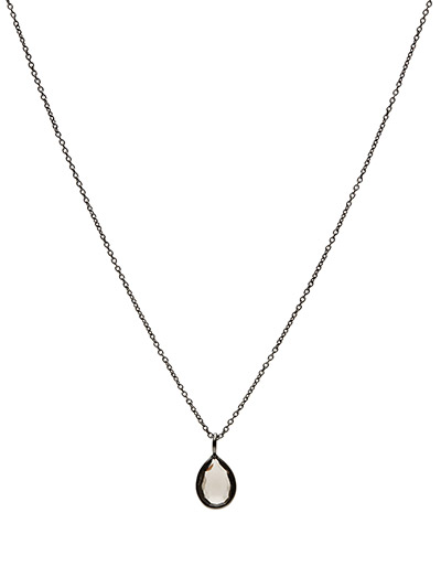 Necklace PURE DROP - SMOKY TOPAS