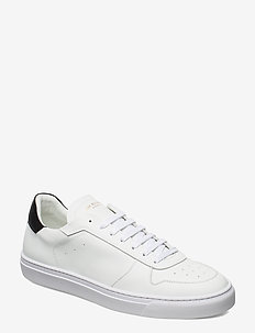 WING - VEGAN SUEDE/VEGAN LEATHER - WHITE/BLACK