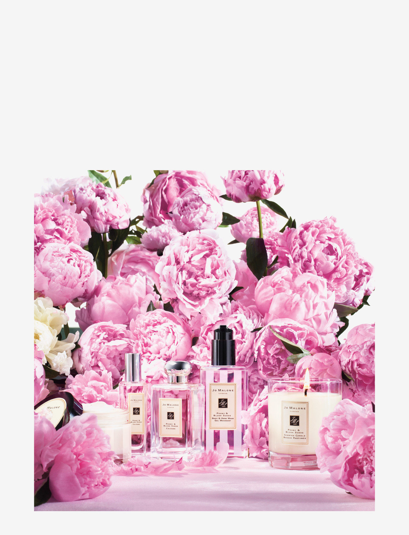 Jo Malone London - Peony & Blush Suede Home Candle Pre-pack - doftljus - clear - 1