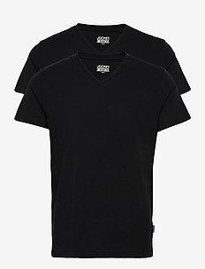 V-shirt 2-p - t-shirts basiques - black