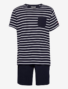 Pyjama short knit - pyjamas - navy